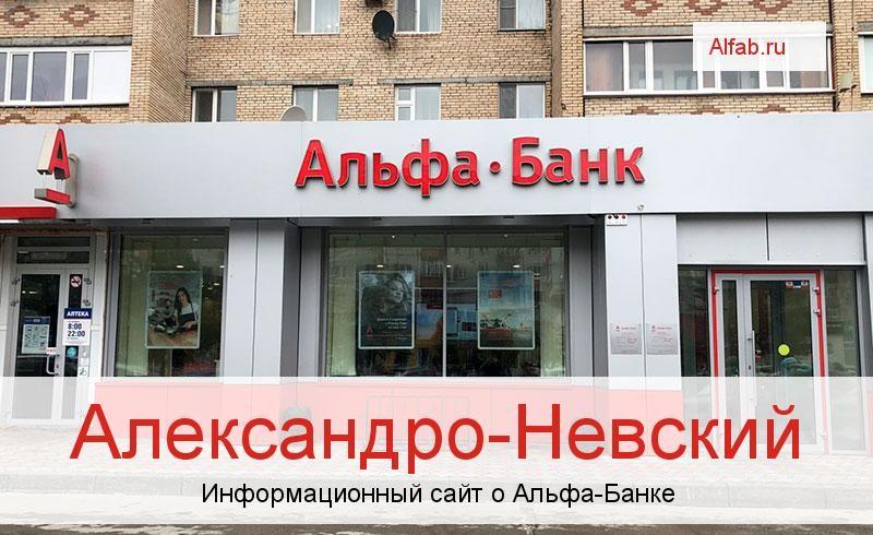 Банкоматы и отделения в городе Александро-Невский