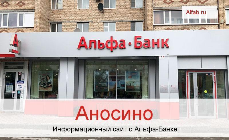 Банкоматы и отделения в городе Аносино