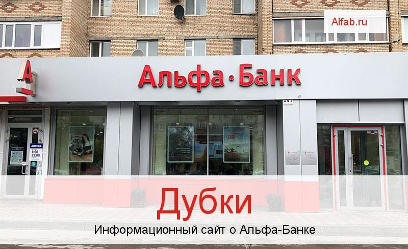 Банкоматы и отделения в городе Дубки