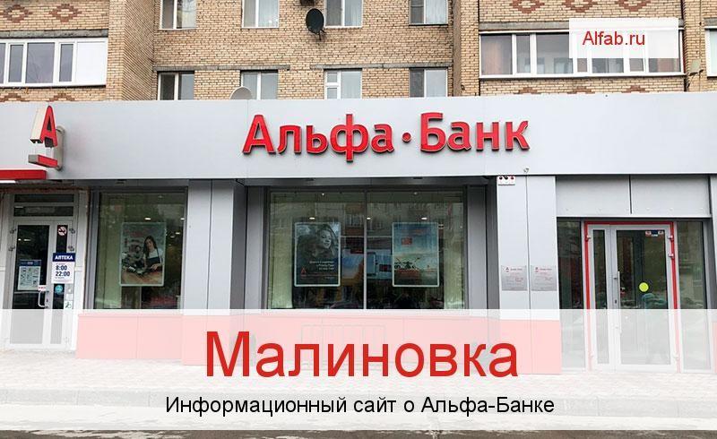 Банкоматы и отделения в городе Малиновка
