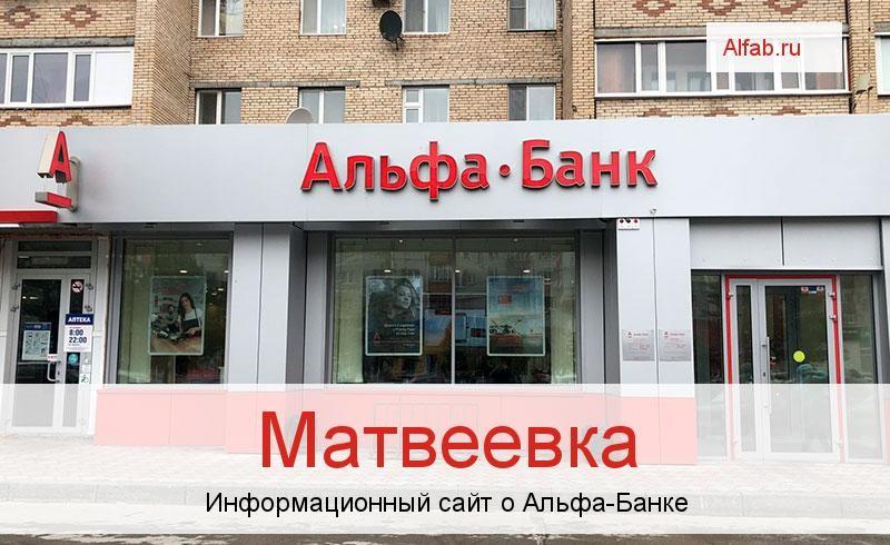 Банкоматы и отделения в городе Матвеевка