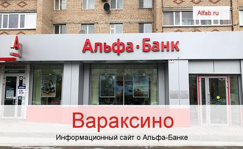 Банкоматы и отделения в городе Вараксино