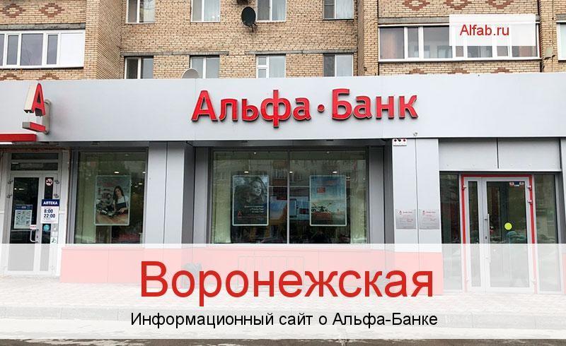 Банкоматы и отделения в городе Воронежская