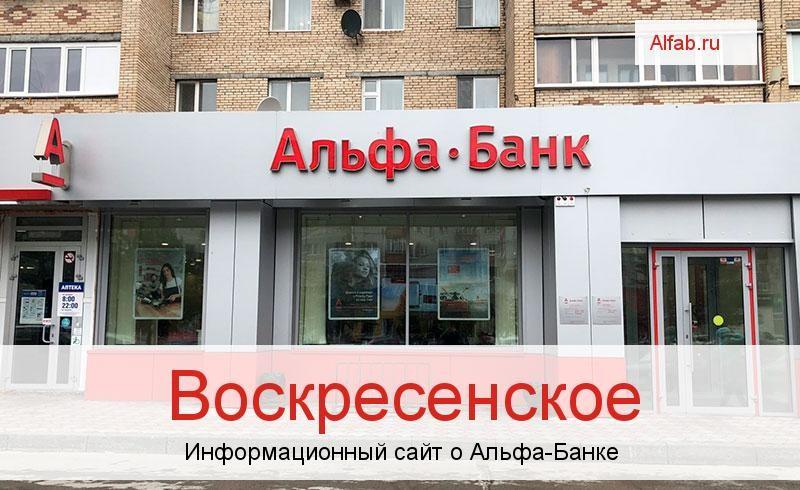 Банкоматы и отделения в городе Воскресенское